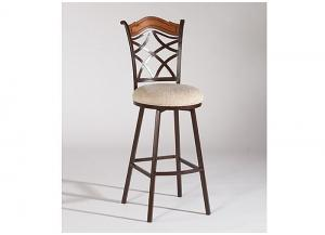 Diamond Metal & Wood, Round Seat, Memory Swivel Counter Stool