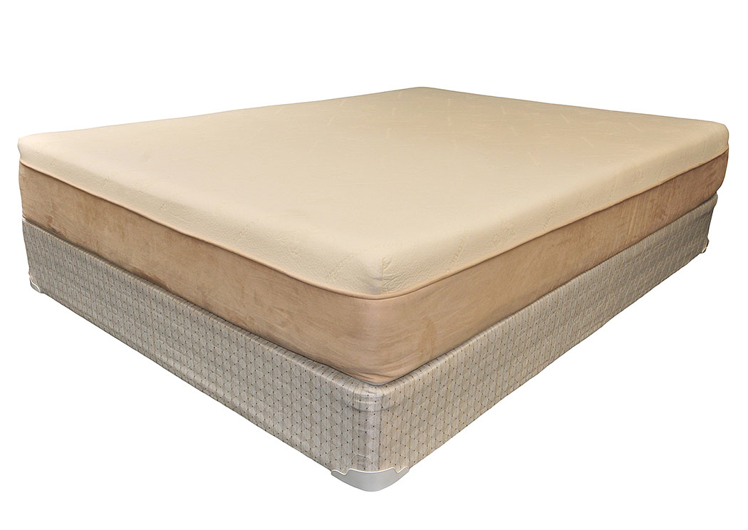 Muncie Furniture 8 Visco Memory Foam Twin Mattress W Foundation
