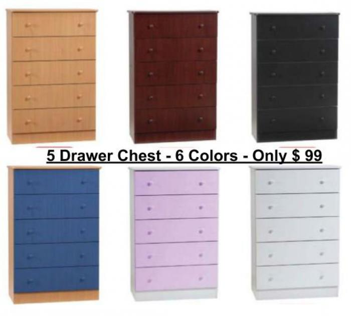 5 Drawer Chest Special ,Wood Peckers