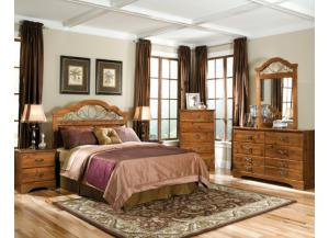 Hester Heights Queel/Full Panel Headboard, Dresser and Mirror