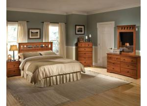 Orchard Park Queen/Full Panel Headboard, Dresser, Mirror, Chest, and Night Stand