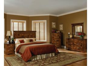 San Miguel Queen Panel Headboard, Dresser, and Mirror