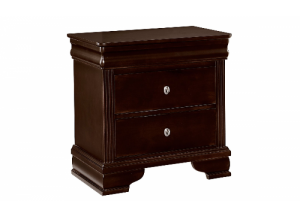 French Market Antique Merlot Night Stand