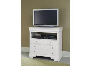 French Market Soft White Media Chest