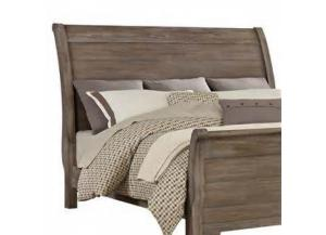 Whiskey Barrel King Sleigh Bed