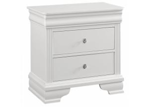 French Market Soft White Night Stand