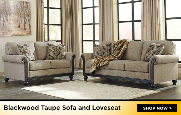 Blackwood Taupe Sofa & Loveseat