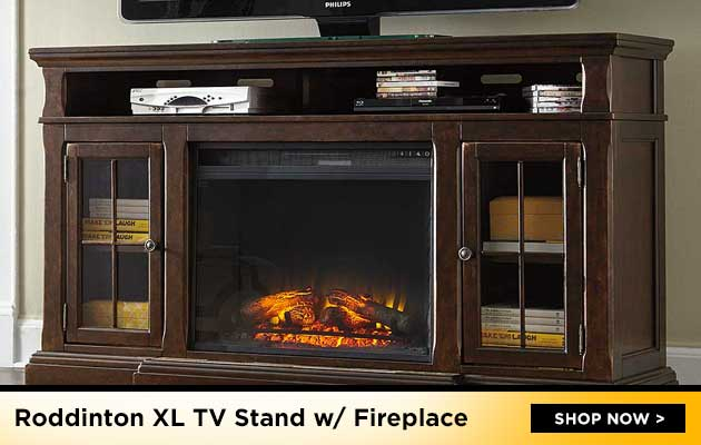 Roddinton XL TV Stand w/ Fireplace