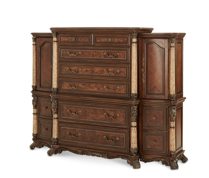 Victoria Palace (6 Drawer Chest with Left and Right Piers),Aico
