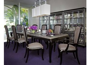 AFTER EIGHT Titanium Dining Table& 6 Chairs