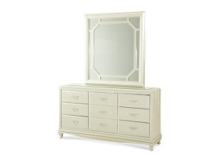 AFTER EIGHT CREAMY PEARL  ( Dresser & Mirror)