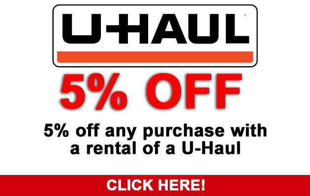 U-Haul Rental Discount at Northwest Furniture Outlet