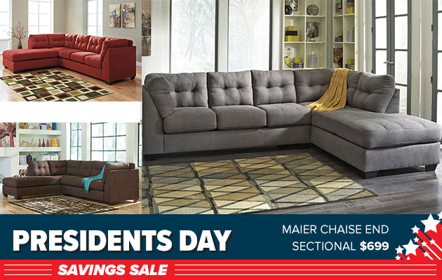 Maier Chaise End Sectional $599