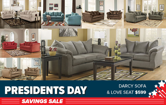 Darcy Sofa and Love Seat $599