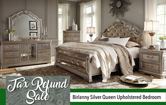 Birlanny Silver Queen Upholstered Bedroom
