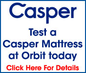 Casper mattress at Orbit furniture
