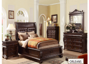 King Bed+Dresser+Mirror+Nightstand & Chest