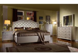 Creamy Pearl Upholstered Bed