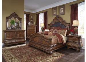 King Bed, Dresser, Mirror, Nightstand, & Chest
