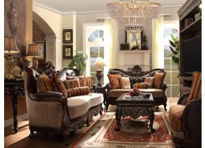 TRADITIONA​L VICTORIAN LUXURIOUS SOFA LOVESEAT & CHAIR SET