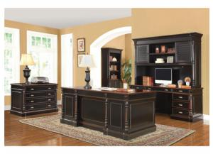 Executive Desk ,Credenza Desk, Hutch, File Cabinet, & Bookcase