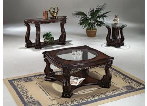 Square Coffee Table, Round End Table, & Sofa Table
