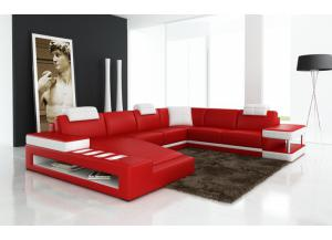 Red Modern Sectional