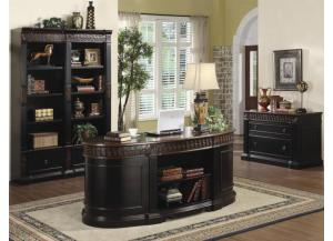 Executive Desk , File Cabinet, Bookcase & Single Bookcase
