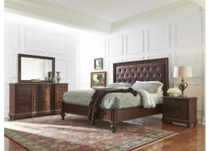 6-Pc Bedroom Set/ Upholstered Head Panel