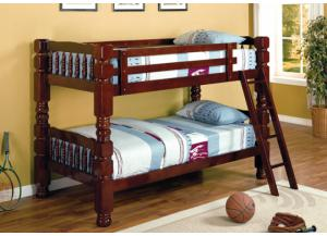 Twin/Twin Bunk Bed- AVAILABLE IN CHERRY & ESPRESSO