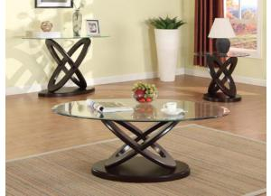 Oval Coffee Table, Round End Table, & Oval Sofa Table