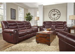 Salinger Burgundy Recl. Sofa and Loveseat,Corinthian
