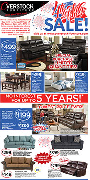 Overstock Furniture 4th of July Sale