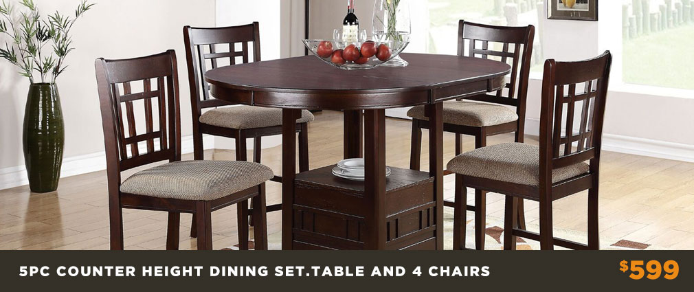 5pc Counter Height Dining Room Set