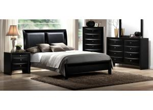 Emily Black Queen Panel Bed