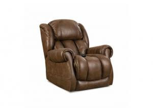 Power Recliner with Power Headrest and Lumbar Cognac