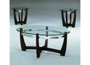 Mitch Occasional Table Set (Cocktail & 2 Ends)