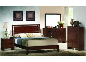 Evan Queen Panel Bed, Dresser, & Mirror