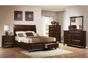 Portsmouth Queen Storage Bed, Dresser, & Mirror