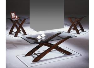 Cross Occasional Table Set (Cocktail and 2 Ends)