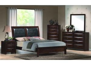 Emily Queen Panel Bed, Dresser, & Mirror
