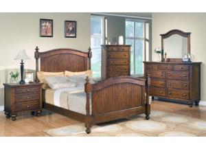 Sommer Queen Panel Bed, Dresser, & Mirror