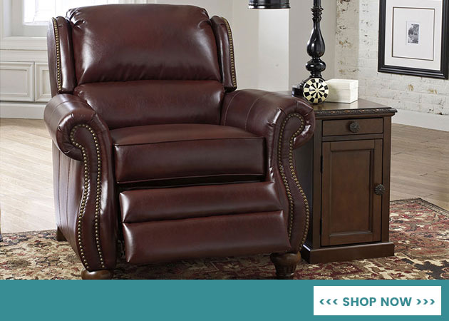 Elberton DuraBlend Roma Low Leg Recliner At Pucci's Carpet One