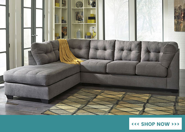 Maier Charcoal Left Arm Facing Chaise End Sectional In NY