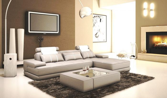 5005 Modern Light Grey and White Bonded Leather 2 Pc. Sectional ,Quality Furniture In-Store