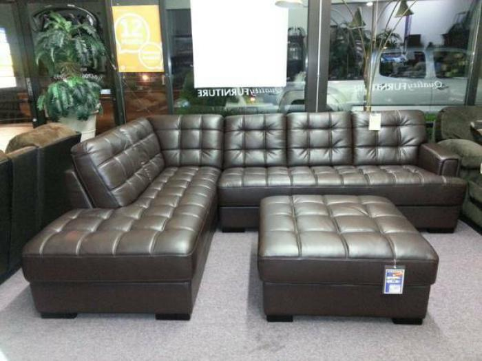 Quality furniture wa 9008 bonded leather sectional for Furniture in federal way