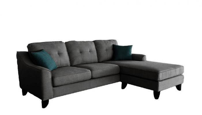 Quality Furniture Wa Julius Grey Reversible Sectional