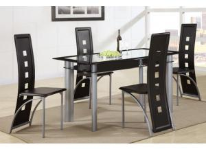 2212+1274 Glass Top Table + 4 Chairs