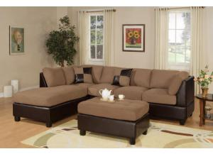 Saddle Sectional with Ottoman