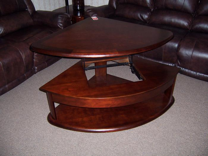 Lift top sectional wedge table w/matching ends,Ahner New Furniture